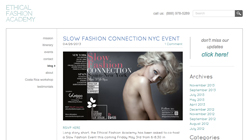 Slow Fashion connection NYC event