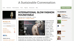 International slow fashion roundtable