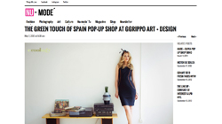 The Green Touch of Spain pop-up shop at Ggrippo Art + Design