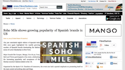 Soho Mile shows growing popularity of Spanish brands in US