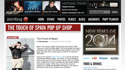 The touch of Spain pop-up shop